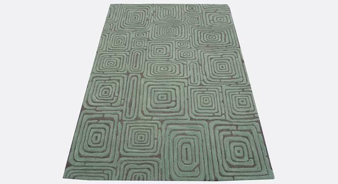 "Alani Carpet (Rectangle Carpet Shape, 150 x 210 cm  (59"" x 83"") Carpet Size, Seige Green) by Urban Ladder - Design 1 Side View - 335056"