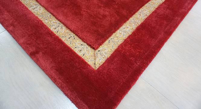 "Amiyah Rug (Rectangle Carpet Shape, 140 x 201 cm  (55"" x 79"") Carpet Size, Deep Red) by Urban Ladder - Design 1 Close View - 335065"