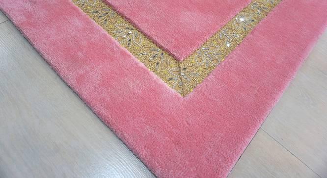 "Amiyah Rug (Pink, Rectangle Carpet Shape, 140 x 201 cm  (55"" x 79"") Carpet Size) by Urban Ladder - Design 1 Close View - 335066"