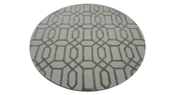 """Angelina Rug (Cream, Round Carpet Shape, 150 x 150 cm  (59"""" x 59"""") Carpet Size) by Urban Ladder - Design 1 Half View - 335075"""