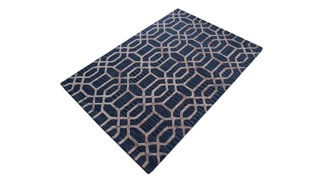 "Angelina Rug (Rectangle Carpet Shape, Dark Blue, 120 x 180 cm  (47"" x 71"") Carpet Size) by Urban Ladder - Cross View Design 1 - 335076"
