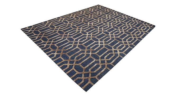 "Angelina Rug (Rectangle Carpet Shape, Dark Blue, 240 x 300 cm  (94"" x 118"") Carpet Size) by Urban Ladder - Cross View Design 1 - 335077"