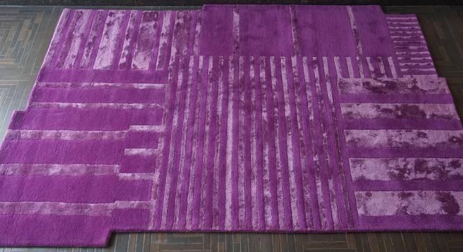"Camilla Rug (Purple, Rectangle Carpet Shape, 160 x 230 cm  (63"" x 91"") Carpet Size) by Urban Ladder - Front View Design 1 - 335099"