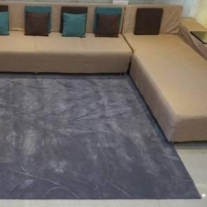 "Fiona Rug (Grey, Rectangle Carpet Shape, 200 x 300 cm  (79"" x 118"") Carpet Size) by Urban Ladder - Design 1 Full View - 335141"