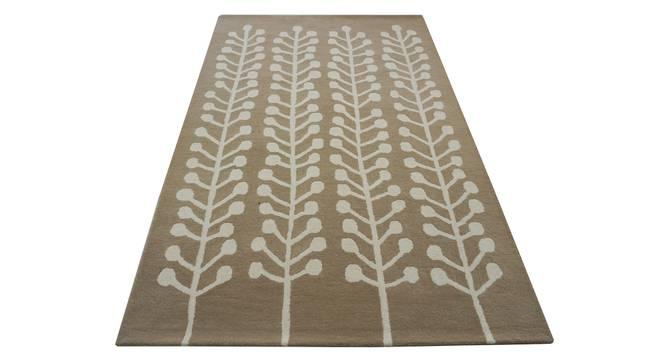 "Harley Rug (Brown, Rectangle Carpet Shape, 200 x 300 cm  (79"" x 118"") Carpet Size) by Urban Ladder - Design 1 Half View - 335163"
