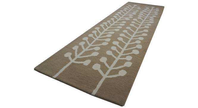 "Harley Rug (Brown, Rectangle Carpet Shape, 78 x 180 cm  (31"" x 71"") Carpet Size) by Urban Ladder - Cross View Design 1 - 335169"