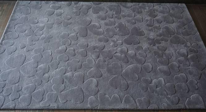 "Julianna Rug (Grey, Rectangle Carpet Shape, 160 x 230 cm  (63"" x 91"") Carpet Size) by Urban Ladder - Front View Design 1 - 335184"