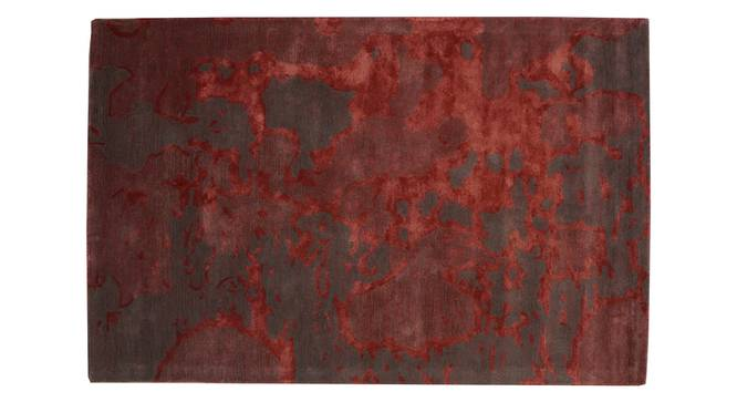 """Thea Rug (Red, Rectangle Carpet Shape, 120 x 180 cm  (47"""" x 71"""") Carpet Size) by Urban Ladder - Front View Design 1 - 335229"""