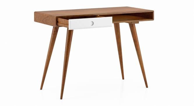Roswell Study Desk (White, Amber Walnut Finish) by Urban Ladder - Cross View Design 1 - 335255