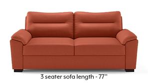 Adelaide Compact Leatherette Sofa (Tan)
