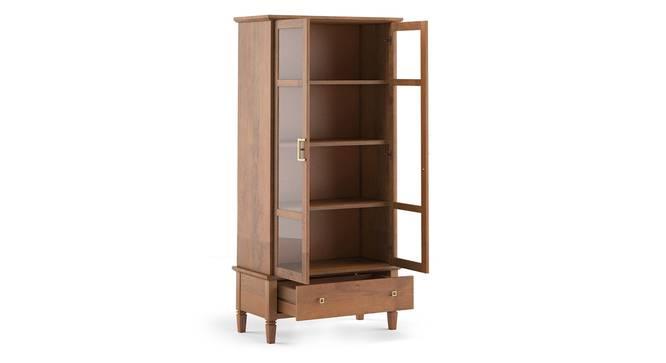 Malabar Bookshelf/Display Cabinet (55-book capacity) (Amber Walnut Finish) by Urban Ladder - Details - 335321