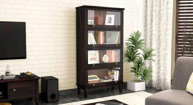 Malabar Barrister Bookshelf (60-Book Capacity) (Mango Mahogany Finish) by Urban Ladder - Design 1 Full View - 335326
