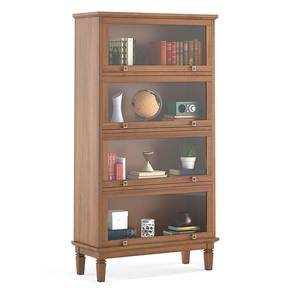 Malabar Barrister Bookshelf (60-Book Capacity) (Amber Walnut Finish) by Urban Ladder - Pic - 335338