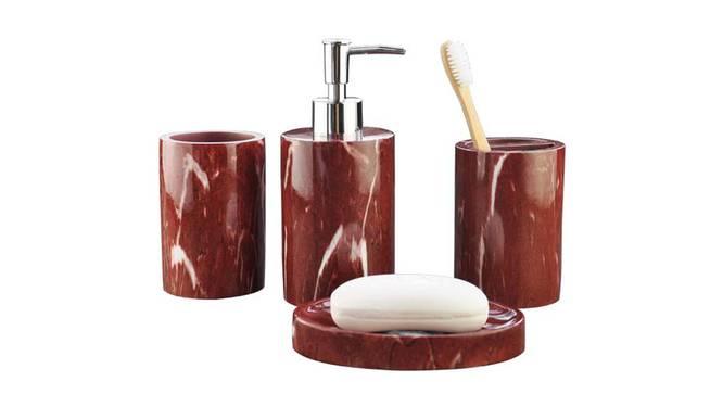 Baptiste Bath Accessories Set (Maroon) by Urban Ladder - Front View Design 1 - 335954