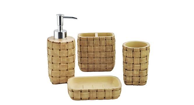 Bruno Bath Accessories Set (Brown) by Urban Ladder - Front View Design 1 - 335961