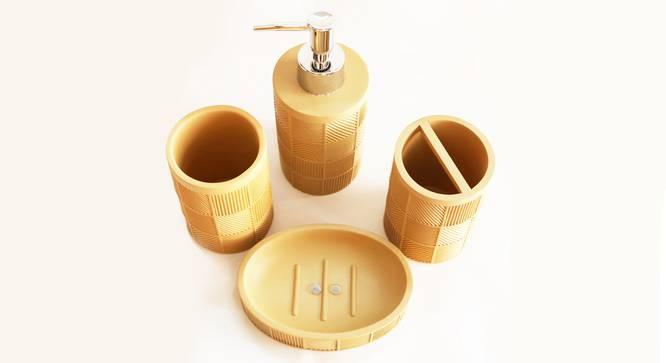 Asger Bath Accessories Set (Brown) by Urban Ladder - Design 1 Top View - 335963