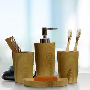 Clement bath accessories set brown lp