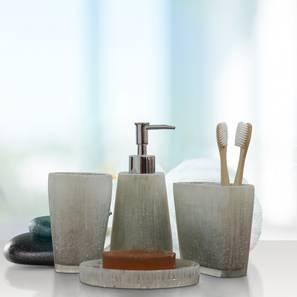 Diego Bath Accessories Set (Silver) by Urban Ladder - Front View Design 1 - 336004