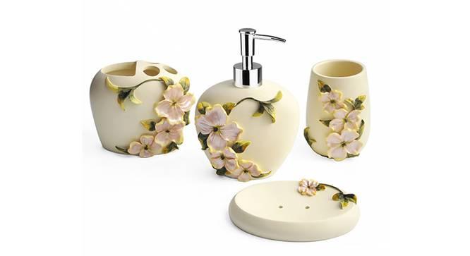 Caio Bath Accessories Set (Cream) by Urban Ladder - Front View Design 1 - 335995