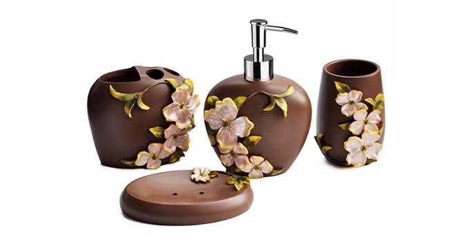 Carmine Bath Accessories Set (Brown) by Urban Ladder - Front View Design 1 - 335996