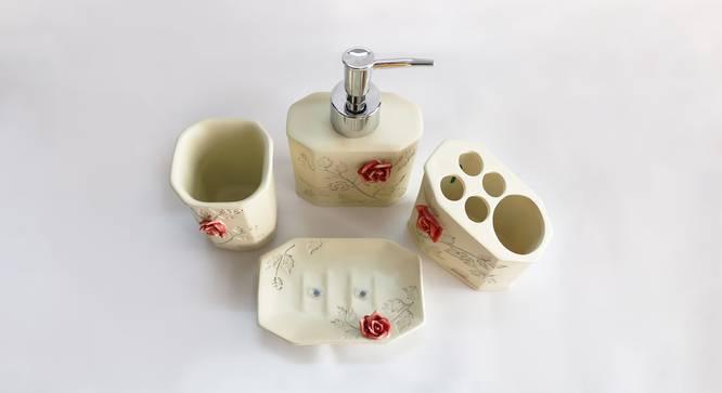 Brynjar Bath Accessories Set (White) by Urban Ladder - Design 1 Top View - 336005