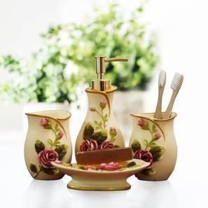 Dorian Bath Accessories Set (Cream) by Urban Ladder - Front View Design 1 - 336040