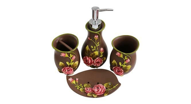 Domenico Bath Accessories Set (Brown) by Urban Ladder - Design 1 Top View - 336051