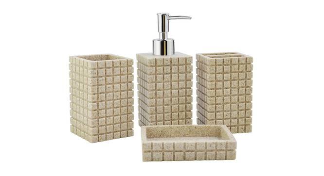 Gaspard Bath Accessories Set (Cream) by Urban Ladder - Front View Design 1 - 336089