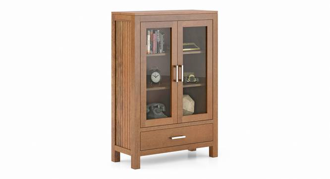Carnegie Display Cabinet (Amber Walnut Finish) by Urban Ladder - Cross View Design 1 - 336111