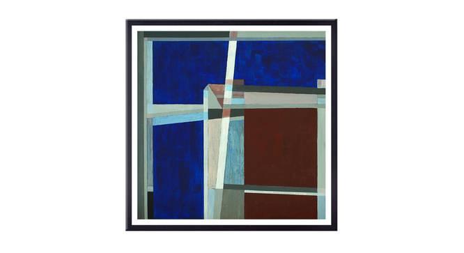Carman Wall Art (Blue) by Urban Ladder - Front View Design 1 - 336132