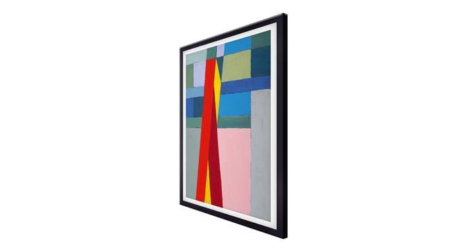 Piswa Wall Art (Red) by Urban Ladder - Cross View Design 1 - 336237