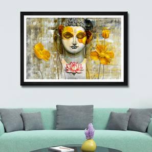Zaleki Wall Art (Yellow) by Urban Ladder - Front View Design 1 - 336274