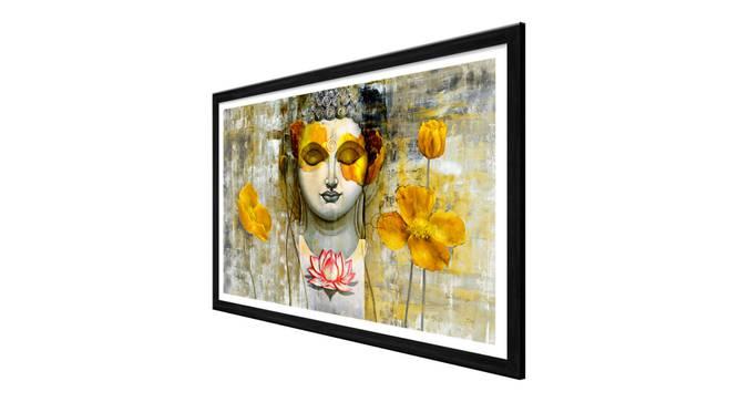 Zaleki Wall Art (Yellow) by Urban Ladder - Cross View Design 1 - 336282