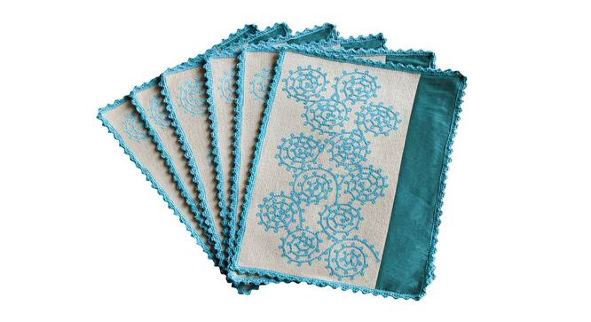 Shirley Table Mat (Turquoise) by Urban Ladder - Design 1 Top Image - 336364