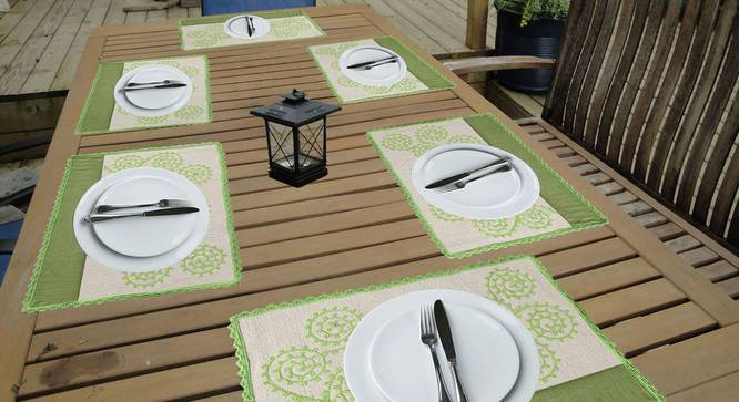 Shirley Table Mat (Green) by Urban Ladder - Design 1 Full View - 336368