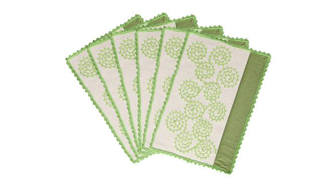 Shirley Table Mat (Green) by Urban Ladder - Design 1 Top Image - 336369
