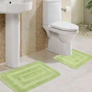Astrid Bath Mat Set of 2 (Green) by Urban Ladder - Design 1 Half View - 336455