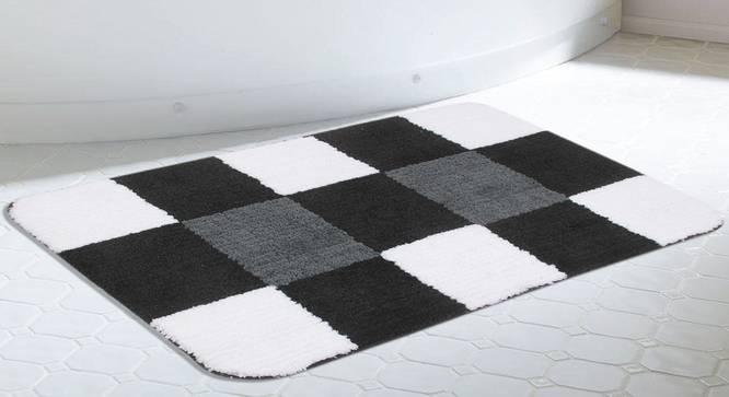 Briana Bath Mat (Black) by Urban Ladder - Design 1 Half View - 336516