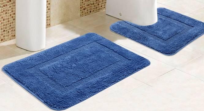 Holly Bath Mat Set of 2 (Blue) by Urban Ladder - Design 1 Half View - 336821