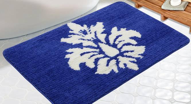 Jemma Bath Mat (Blue) by Urban Ladder - Design 1 Half View - 336878