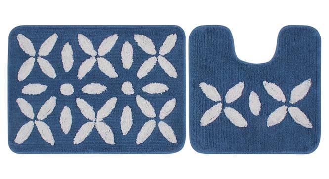 Jazlyn Bath Mat Set of 2 (Blue) by Urban Ladder - Front View Design 1 - 336881