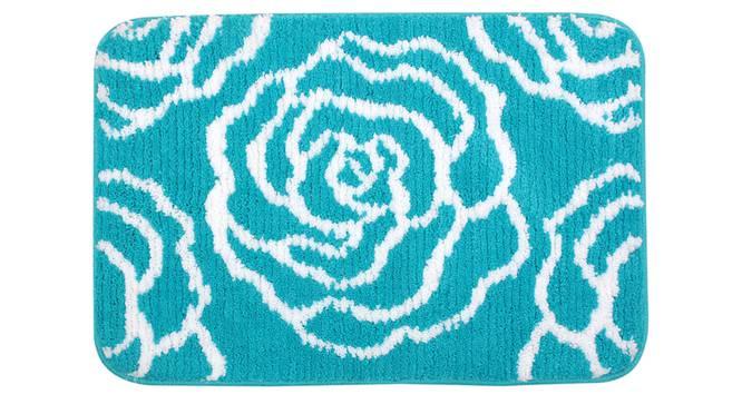 Ivory Bath Mat (Blue) by Urban Ladder - Front View Design 1 - 336883