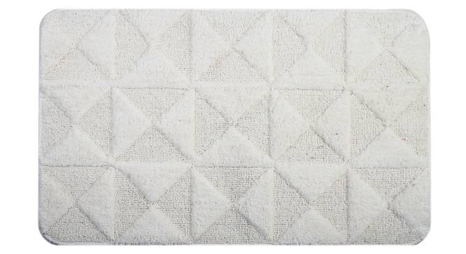 Katie Bath Mat (White) by Urban Ladder - Front View Design 1 - 337083