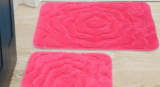 Liana Bath Mat Set of 2 (Pink) by Urban Ladder - Design 1 Half View - 337151