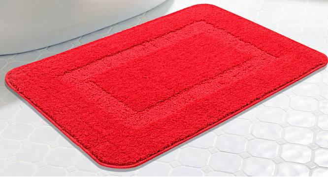 Maia Bath Mat (Red) by Urban Ladder - Design 1 Half View - 337289