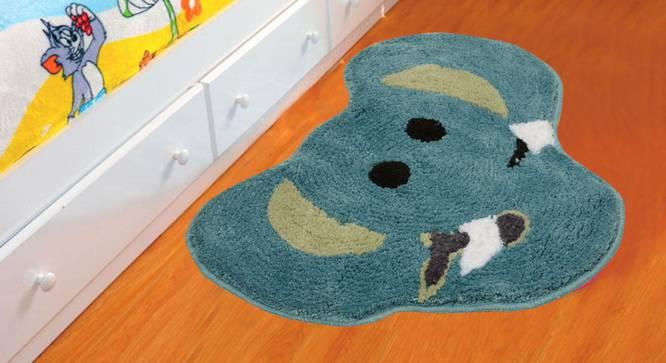 Nellie Bath Mat (Blue) by Urban Ladder - Design 1 Half View - 337324