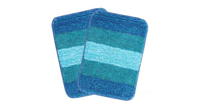 Sutton Bath Mat Set of 2 (Blue) by Urban Ladder - Design 1 Details - 337494