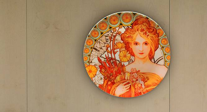 The Fantasy Wall Plate by Urban Ladder - Design 1 Half View - 338199