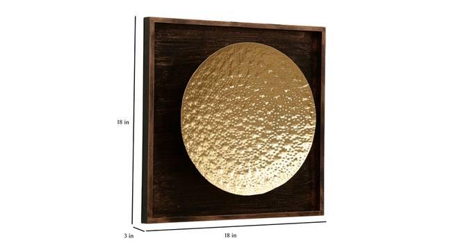 Oliver Hammered Wall Decor (Gold) by Urban Ladder - Design 1 Dimension - 338538