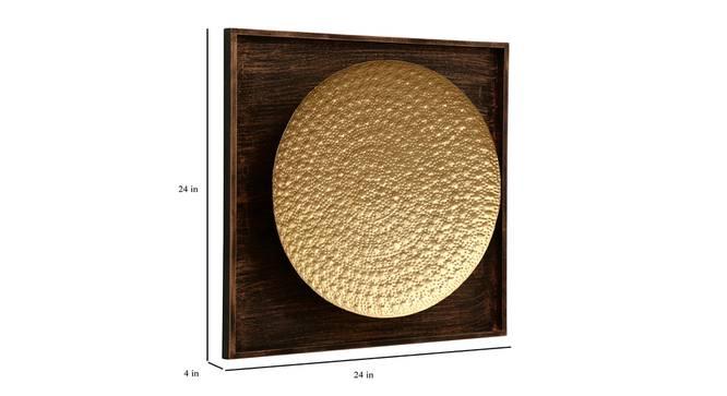 Oliver Hammered Wall Decor (Gold) by Urban Ladder - Design 1 Dimension - 338539